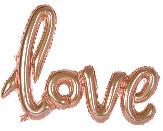 Гирлянда Love розовое золото, фото 2
