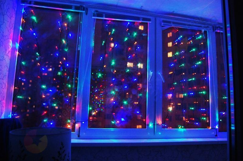 """Гирлянда светодиодная """"Водопад""""320 ламп(LED)  микс"""