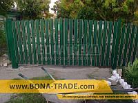Ворота распашного типа для штакетника с односторонним заполнением секций 2400, 5000