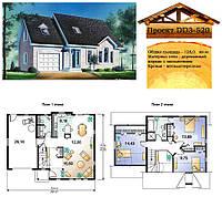 Проект каркасно-щитового дома с заполнением 128 м2. Проект дома бесплатно при заказе строительства
