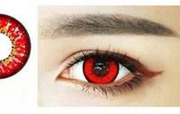 Цветные линзы для глаз, красные, фото 1