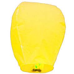Китайский летающий фонарик желтый 110 см