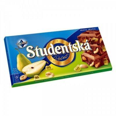 Шоколад Studentska с грушей 180 гр, Чехия