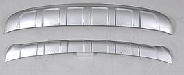 Передняя и задняя накладки V2 (пластик) - Kia Sportage 2015+ гг.