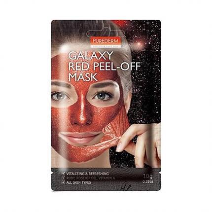 Очищающая маска-пленка Purederm Galaxy Red Peel-off Mask, фото 2
