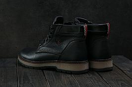 Мужские зимние ботинки из натуральной кожи в стиле Ecco