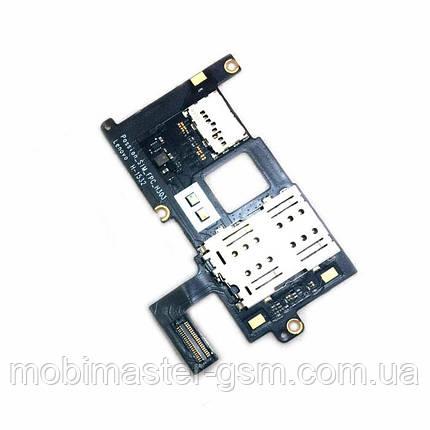 Шлейф Lenovo Vibe P1 с SIM коннектором, фото 2