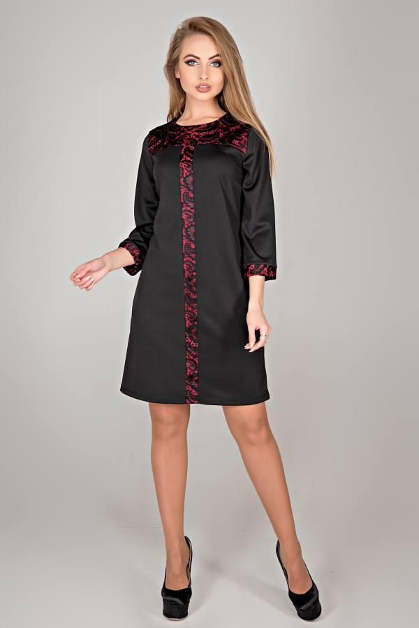 Молодежное платье Таура черный(44-52)
