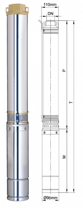 Погружной скважинный насос Aquatica 4SDm4/7 (777131)