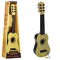 Детская гитара со струнами и медиатором 898-22: размер 54см