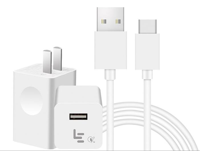 Оригинал Зарядное устройство Letv LeEco быстрая зарядка QC 3.0 Блок питания / Есть кабель Type C