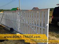 Ворота откатные  с односторонней зашивкой секции штакетом Bonafence 1500, 7500, 5000
