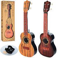 Детская гитара со струнами и медиатором 898-13: размер 60см, 3 цвета