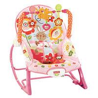 Массажное кресло-качалка «Зайка» Fisher-Price с музыкой и вибрацией (для детей от 0 до 3-х лет)