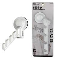 Вішалка для рушників на вакуумній присоску 19.9х6.2 см Bathlux (30120)