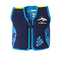 Детский плавательный жилет Konfidence Original Jacket, Navy Blue- Palm(KJ14-CB)