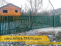 Ворота откатные  с односторонней зашивкой секции штакетом Bonafence 1500, 9000, 6000