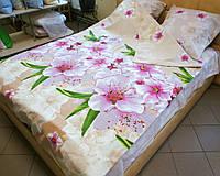 Комплект постельного белья бязь Голд Цветущий сад  Евро