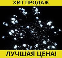 Гирлянда с черным проводом 7 и лампой Рубинка 500LED (белый) LED500W-7!Спешите Купить