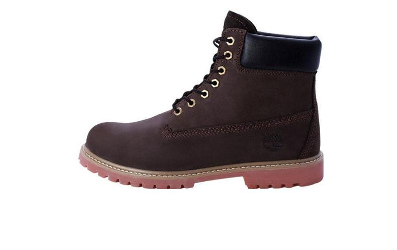 Женские ботинки Timberland 6 inch fur Brown (Натуральный мех)