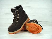 Женские ботинки Timberland 6 inch fur Brown (Натуральный мех), фото 2