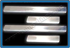 Накладки на пороги OmsaLine (4 шт, нерж) - Seat Cordoba 2000-2009 гг.