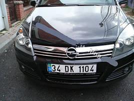 Накладки на решітку (4 шт., нерж.) - Opel Astra H 2004-2013 рр ..