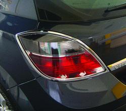 Накладка на стопи (HB, 2 шт, пласт) - Opel Astra H 2004-2013 рр ..