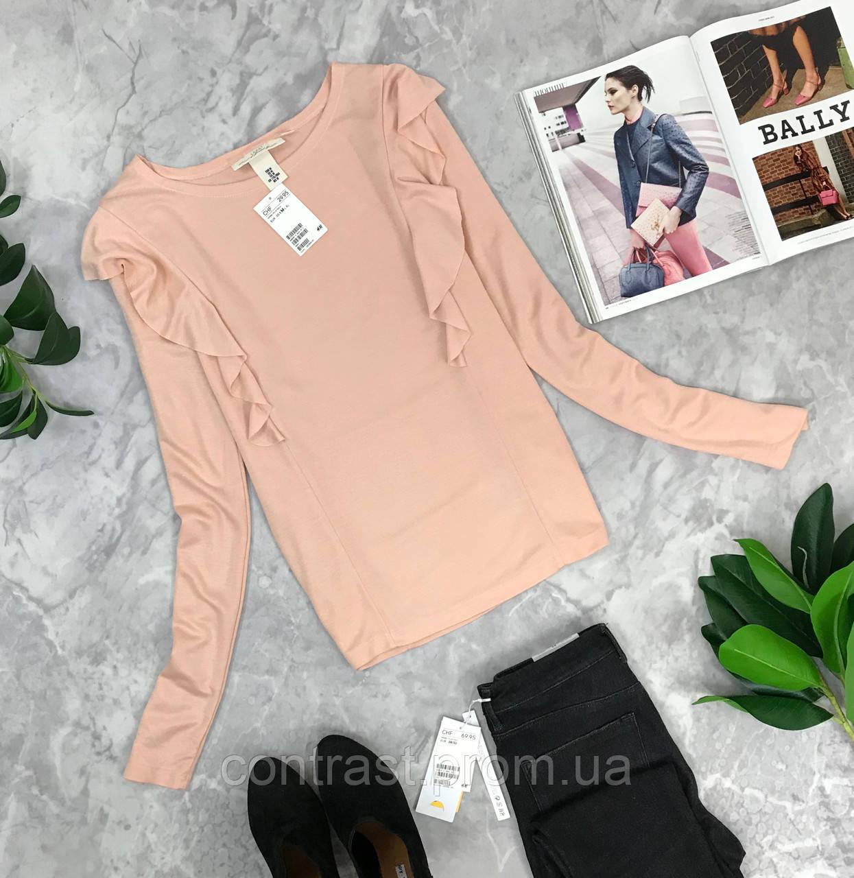 Нюдовый блуза с воланами H&M  BL1845061 H&M