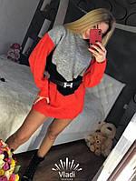 Платье-туника вязка ромб, фото 1