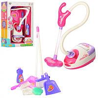 Дитячий ігровий набір для прибирання (Пилосос, щітки, совок, губка)