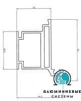 Алюминиевый профиль для двери скрытого монтажа