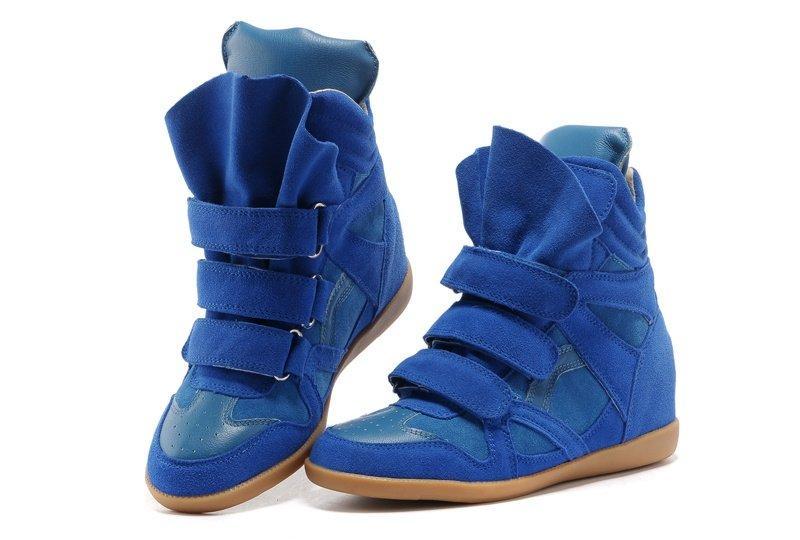 Оригинальные женские Сникеры Isabel Marant Copy Blue