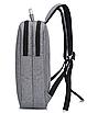 Рюкзак городской Package для ноутбука серый, фото 3