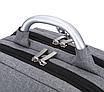 Рюкзак городской Package для ноутбука серый, фото 6