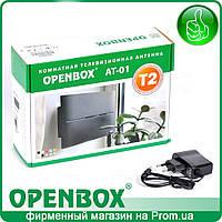 Антенна эфирная с усилителем и блоком питания Openbox AT-01 (черная)