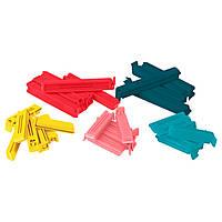 БЕВАРА Зажим для пакетов,30 штук, разные цвета, разные размеры, 10339171, IKEA, ИКЕА, BEVARA