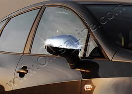Накладки на зеркала (2 шт, нерж) - Seat Ibiza 2010-2017 гг.