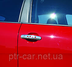 Накладки на ручки с дырочками (нерж) - Seat Leon 2005-2012 гг.