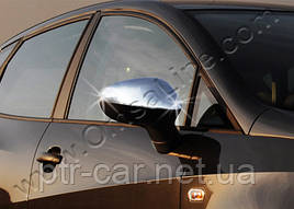 Накладки на зеркала (2010-2012, 2 шт, нерж) - Seat Leon 2005-2012 гг.