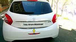 Кромка багажника (нерж.) - Peugeot 208