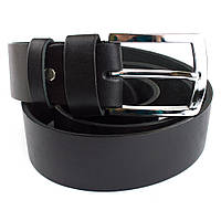 Мужской кожаный ремень B-01 (черный) (4 см), фото 1