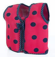 Детский плавательный жилет Konfidence Original Jacket, Ladybird Polka (KJ05-C)