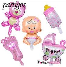 Набор воздушных шариков для девочки (без гелия)