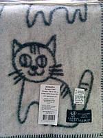 Детское, шерстяное одеяло -  Коты  Klippan Saule (Riga ), фото 1