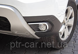 Накладки на противотуманки (2 шт, нерж) - Renault Duster 2018+ гг.
