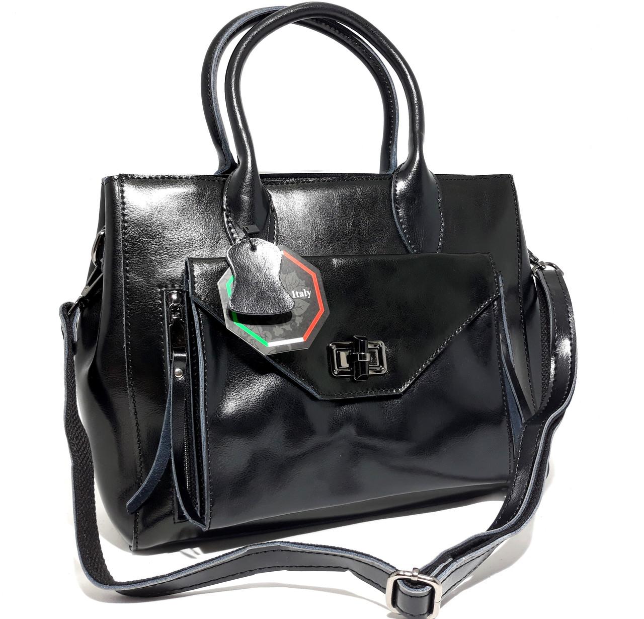 60129a84a061 Повседневная кожаная женская сумка Galanty черная: продажа, цена в ...