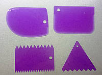 Шпатели пластиковые кондитерские набор 4 шт., фото 1
