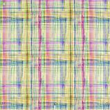 Декоративная ткань с мелкими размытыми квадратами голубого и розового цвета Испания, фото 2