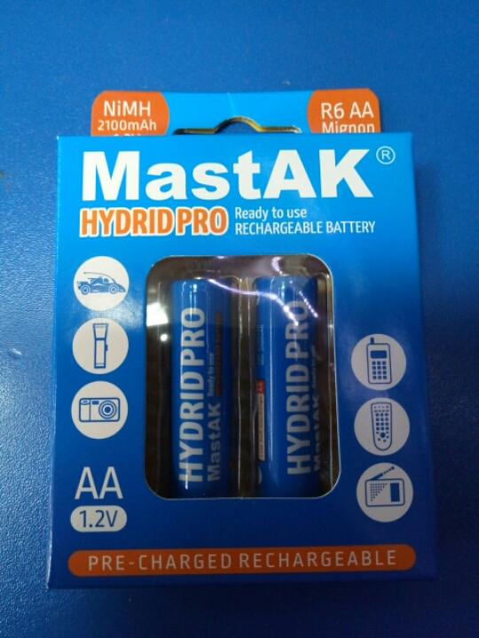 Аккумулятор пальчиковый MastAK 1,2v 2100mAh  ( AA ) Hidrid Pro